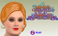 Game drawing Adele dress up