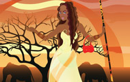 thumbnail of African princess dress up