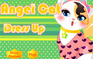 Game drawing Angel Cat dress up