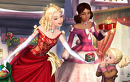 Game drawing Barbie christmas jigsaw