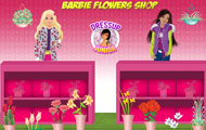 Game drawing Barbie flowers shop