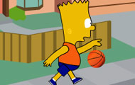 Game drawing Bart Simpson basketbally