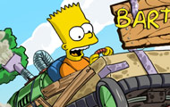 Game drawing Bart simpson kart